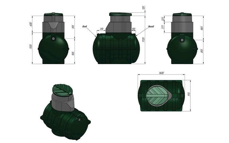 Септик green rock: используемые технологии, варианты исполнения и модельный ряд