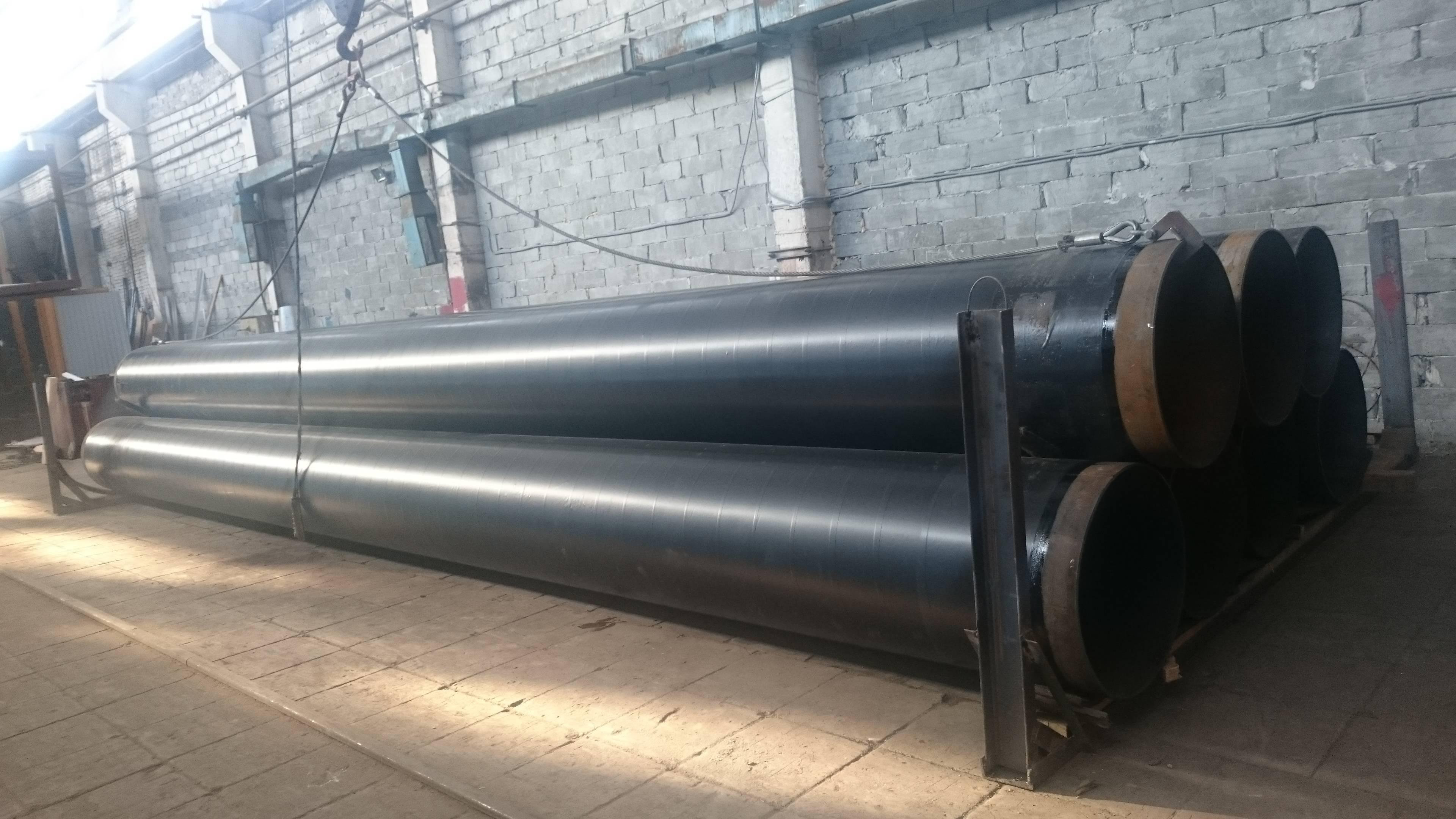 Стальные трубы в изоляции вус (весьма усиленный слой). изоляция труб стальных весьма усиленная