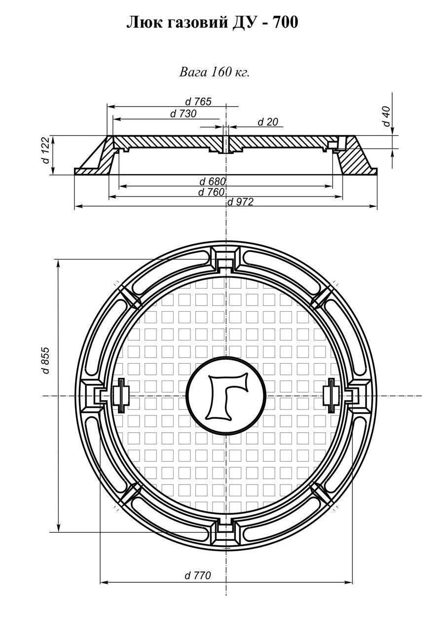 Канализационный люк: полимерный, пластиковый, чугунный, диаметр крышки, сколько весит, размер