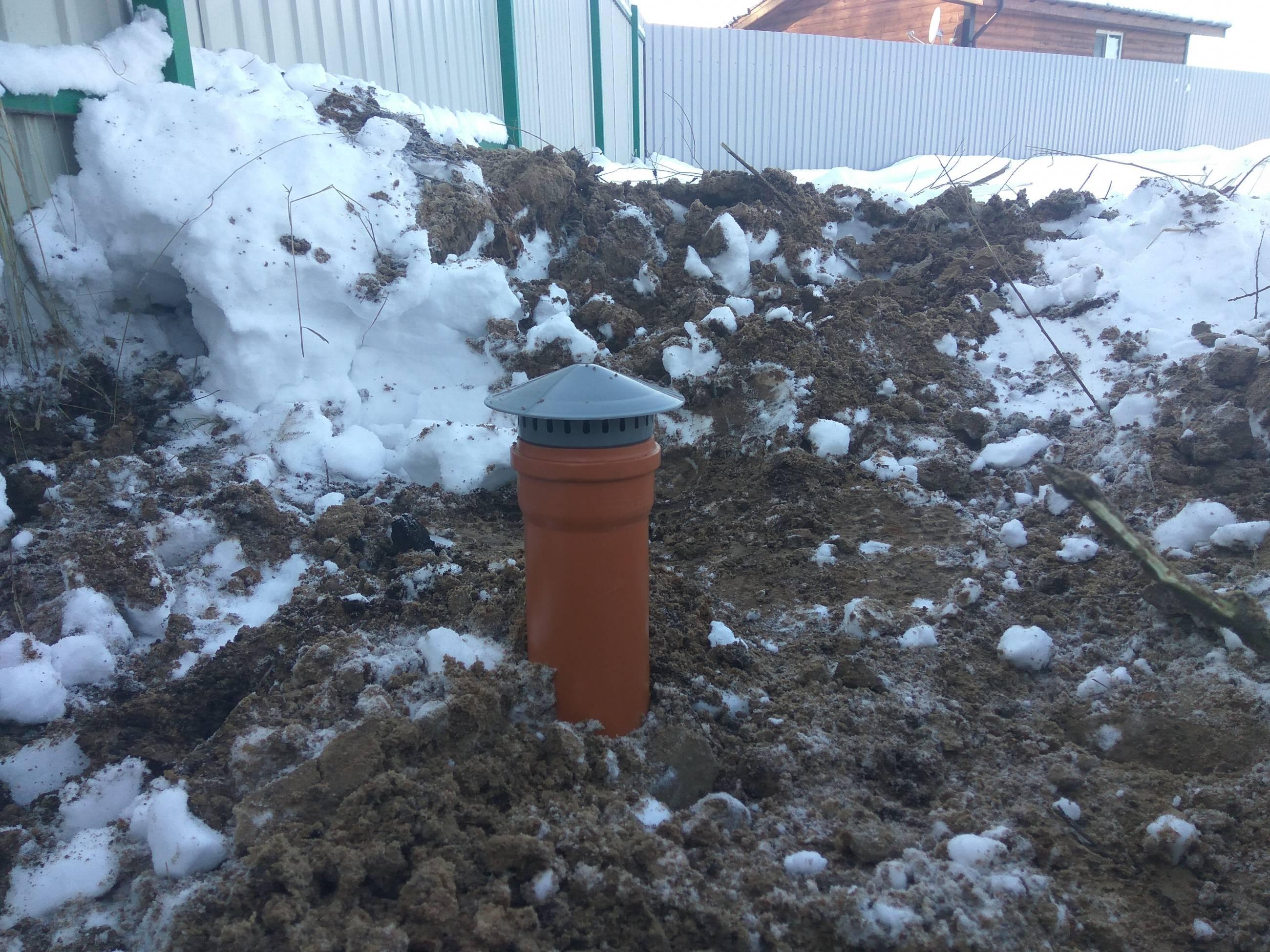 Автономная канализация в частном доме и на даче зимой