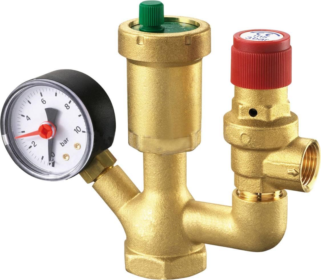 Предохранительный клапан для отопления, перепускной, обратный и др