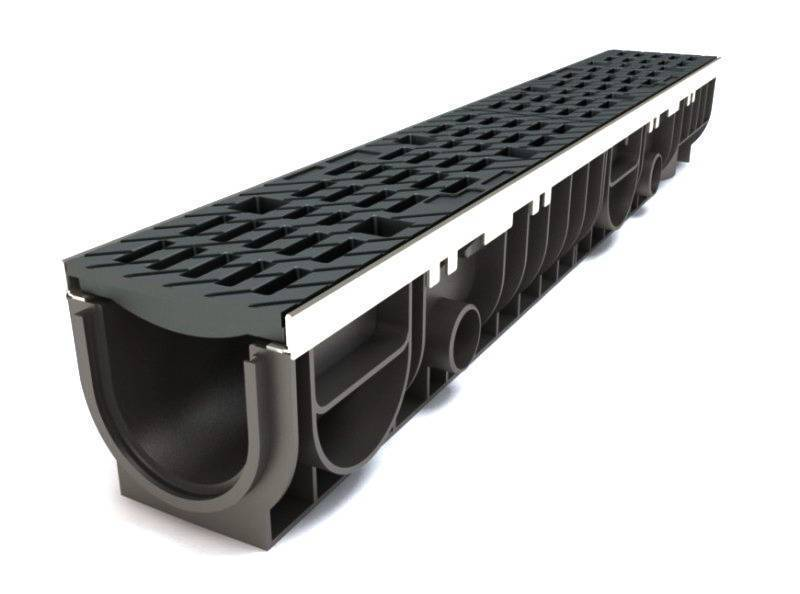 Дождевой лоток водоотводной бетонный с решеткой: виды и конструкция +фото