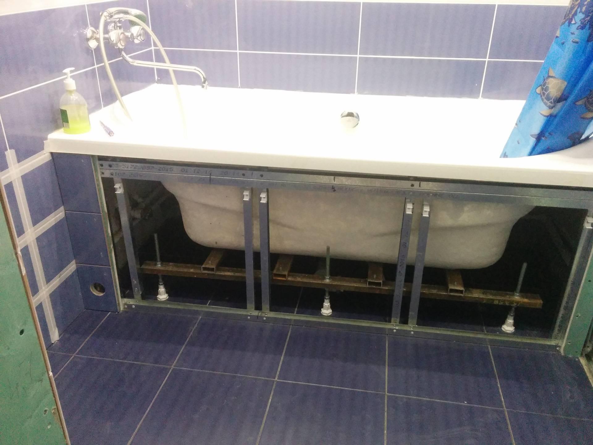 Как установить раздвижной пластиковый экран под ванну своими руками
