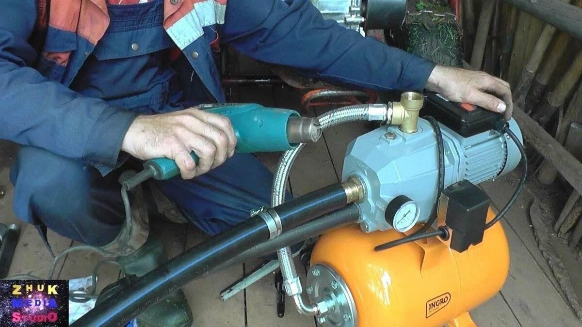 Самодельный эжектор для насосной станции: пример установки с выносной и внутренней конструкцией