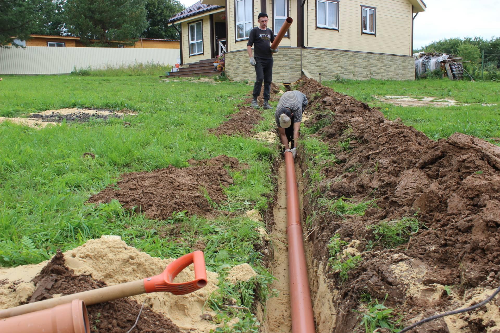 Укладка канализационных труб в траншею – как выполняется + видео