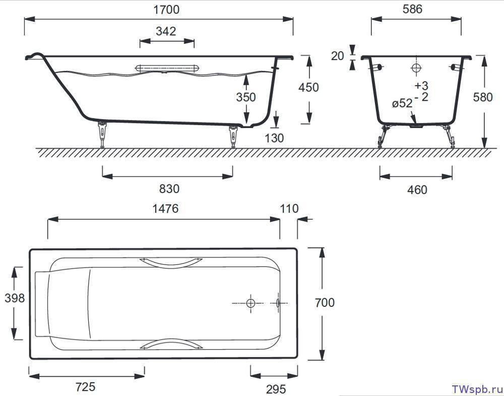 Высота смесителя над ванной: стандарт высоты крана, как установить и на каком расстоянии от пола устанавливать