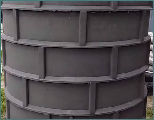 Полимерные кольца для колодца: свойства и особенности - учебник сантехника