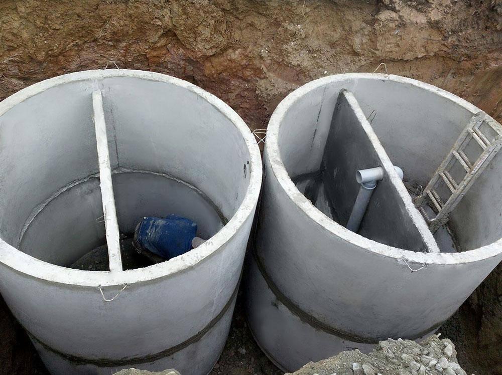 Септик из бетонных колец: устройство канализационного колодца своими руками, схема, видео и фото