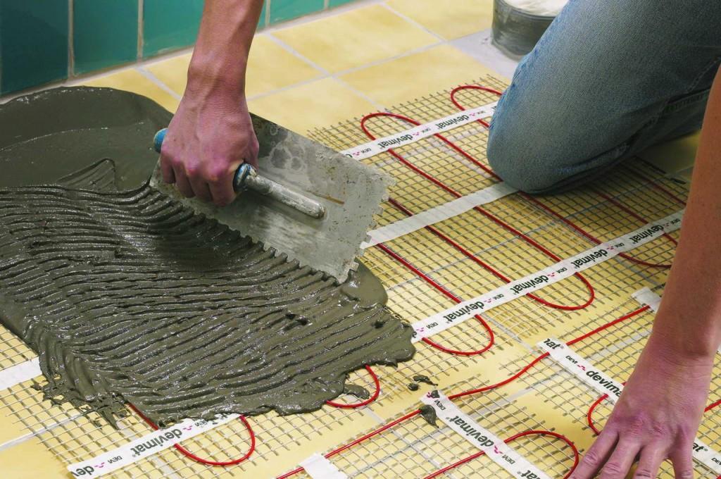 Водяной теплый пол под плитку своими руками - инструкция с фото