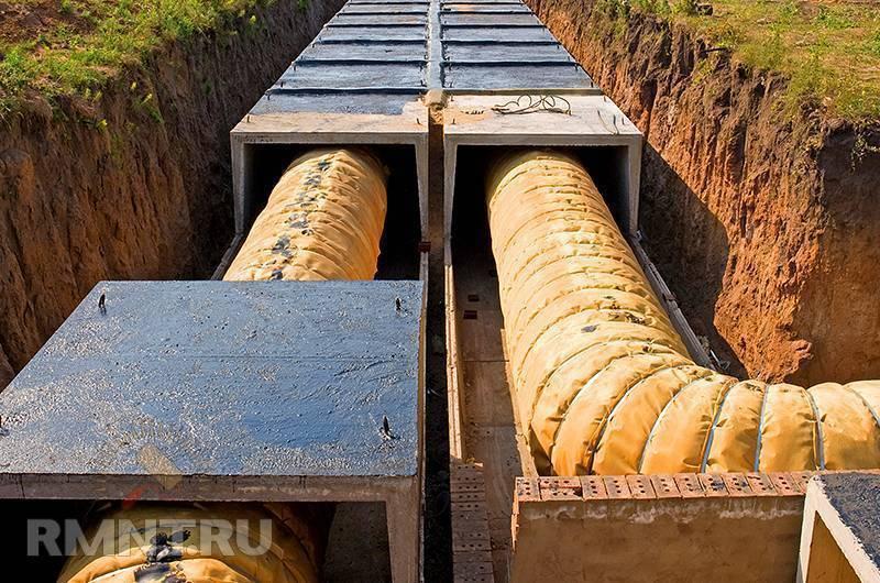 Лотки бетонные для теплотрасс
