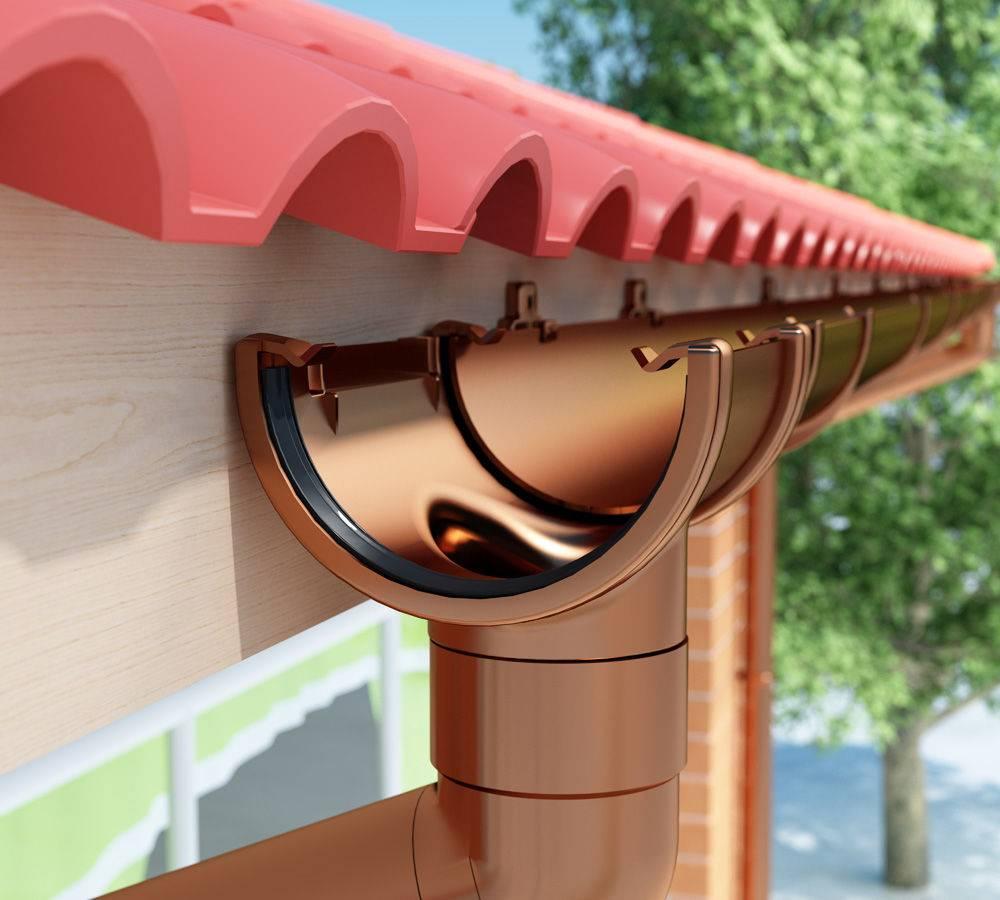 Наружный водосток: устройство-водосток с кровли и обзор +видео