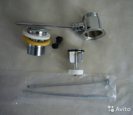 Донный клапан для раковины: монтаж+Фото: Установка донного клапана без перелива своими руками
