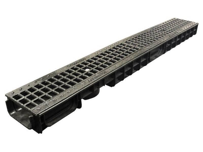 Дождевой лоток водоотводный бетонный с решеткой: типы, область применения, общая характеристика +видео