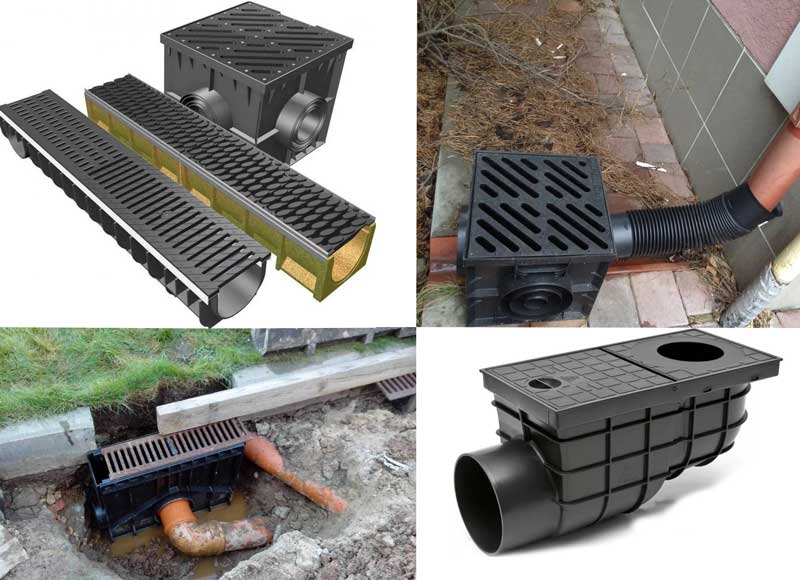 Водоприемники ливневой канализации: разновидности и технология установки