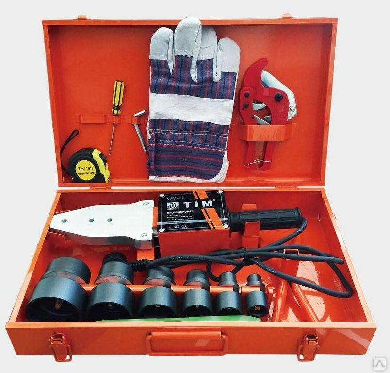 Паяльник для полипропиленовых труб, его устройство и набор насадок, обеспечивающих надежную пайку