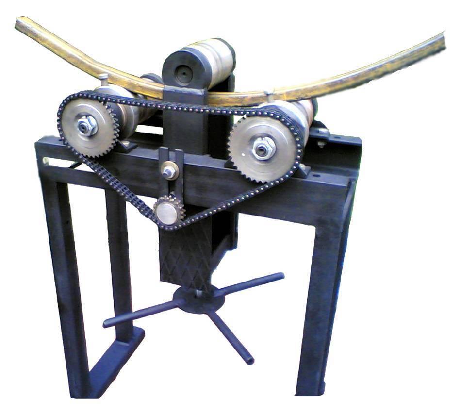 Как сделать своими руками простейший, прижимной и гидравлический трубогиб для профильных труб: четреж и видео