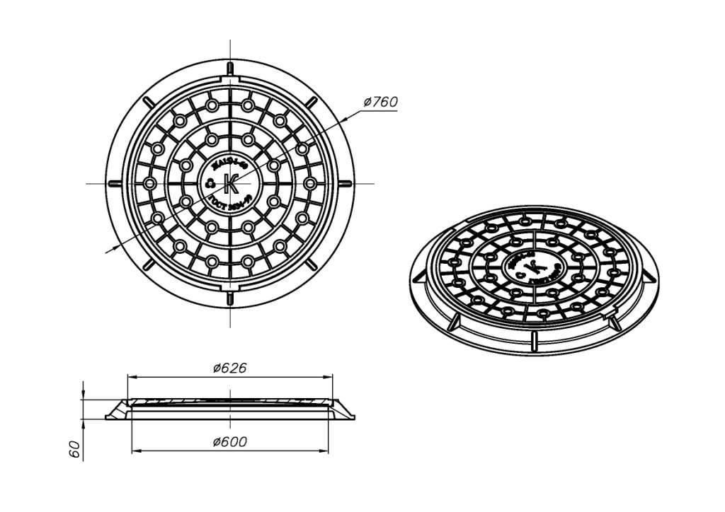 Люк для канализационного колодца: виды и размеры
