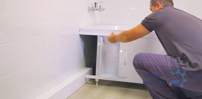 Как правильно установить экран под ванну своими руками