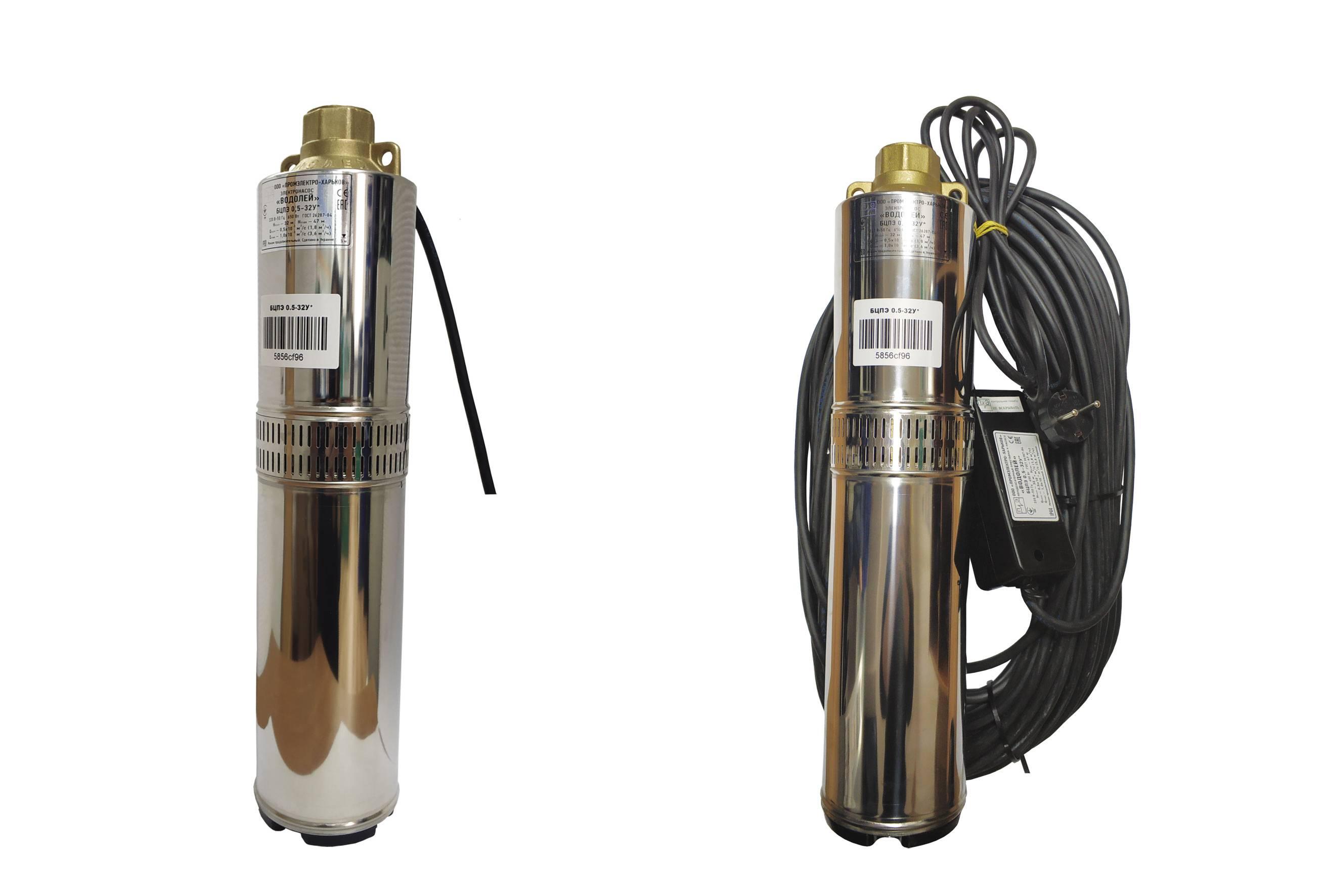 Насосы для воды «водолей 3» – технические особенности