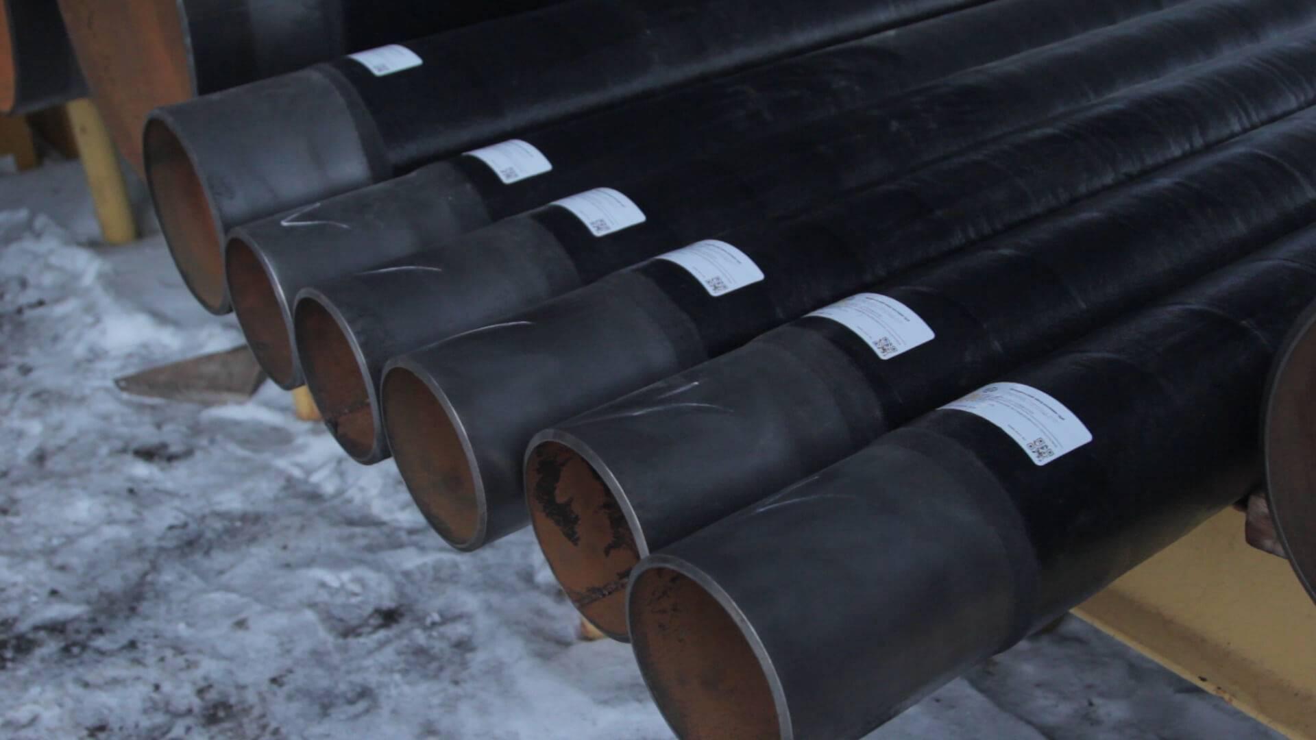 Стальные трубы в изоляции вус (весьма усиленный слой). труба стальная в вус изоляции
