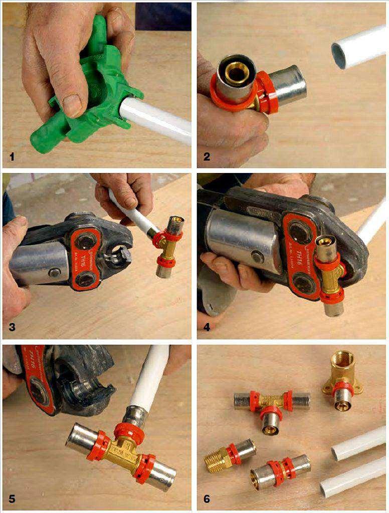 Монтаж металлопластиковых труб своими руками: инструмент, виды соединений
