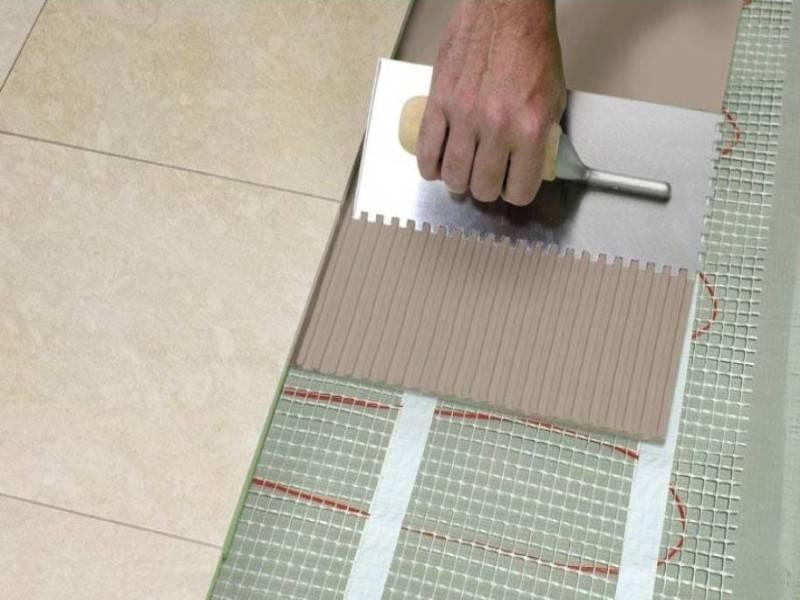 Укладка керамогранита на  теплый пол своими руками с видео инструкция
