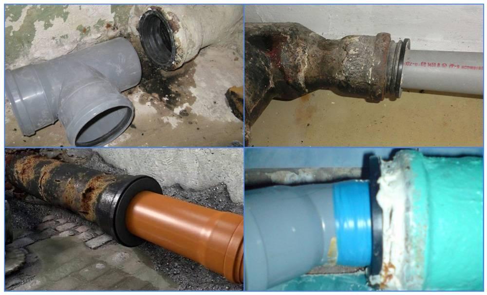 Соединение канализационных труб: пластиковые с чугуном | инженер подскажет как сделать