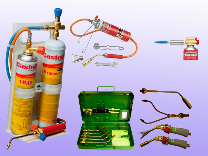 Пропановая газовая горелка для пайки медных труб разным припоем: какую выбрать