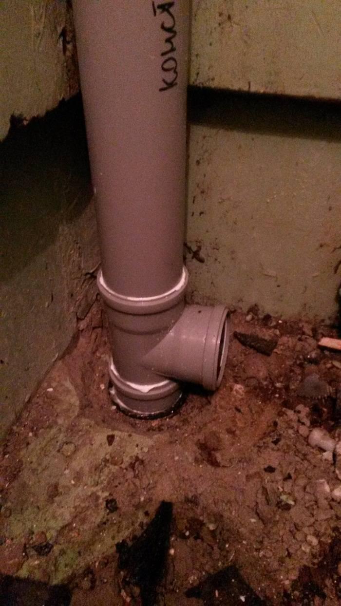 Замена стояка канализации в ванной комнате квартиры: теория и практика