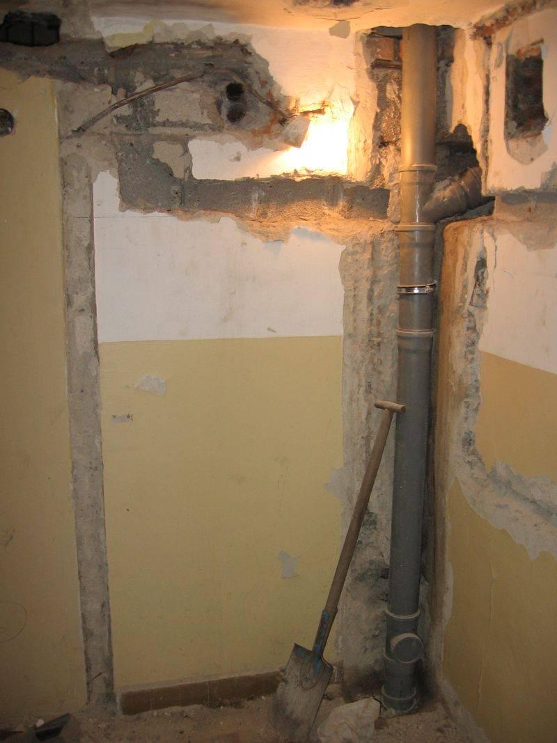 Замена труб канализации в квартире своими руками