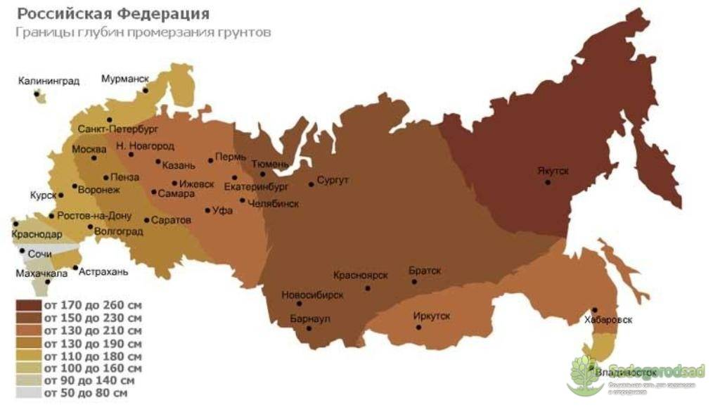 Глубина промерзания грунта в московской области и особенности установки фундамента