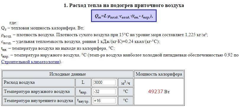 Применение калькулятора для расчета теплоизоляции трубопроводов