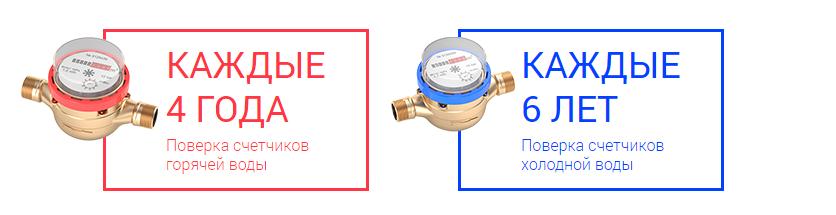 Водяной счетчик холодной воды: срок годности и эксплуатации до поверки