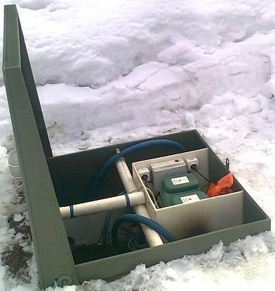 Септик зимой, правила эксплуатации септика в зимнее время