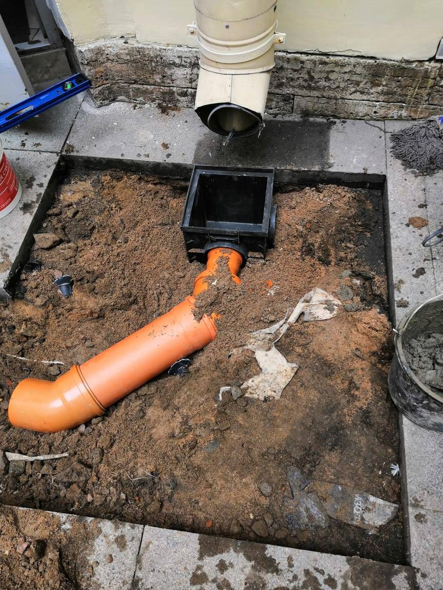 Ремонт ливневой канализации в многоквартирном доме - гск