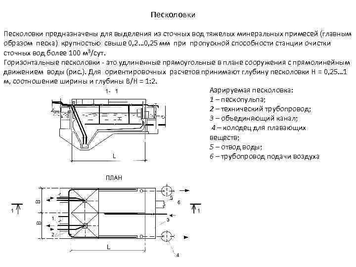 Горизонтальная песколовка: устройство, особенности и схема