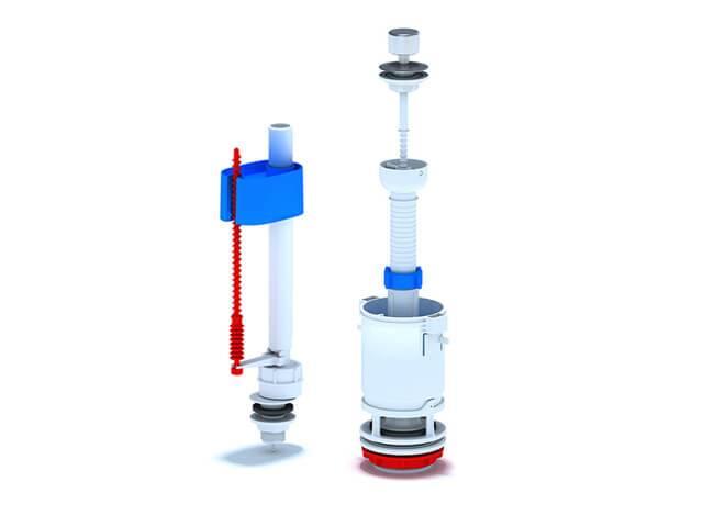 Устройство смывного бачка с нижней подводкой воды - всё о сантехнике