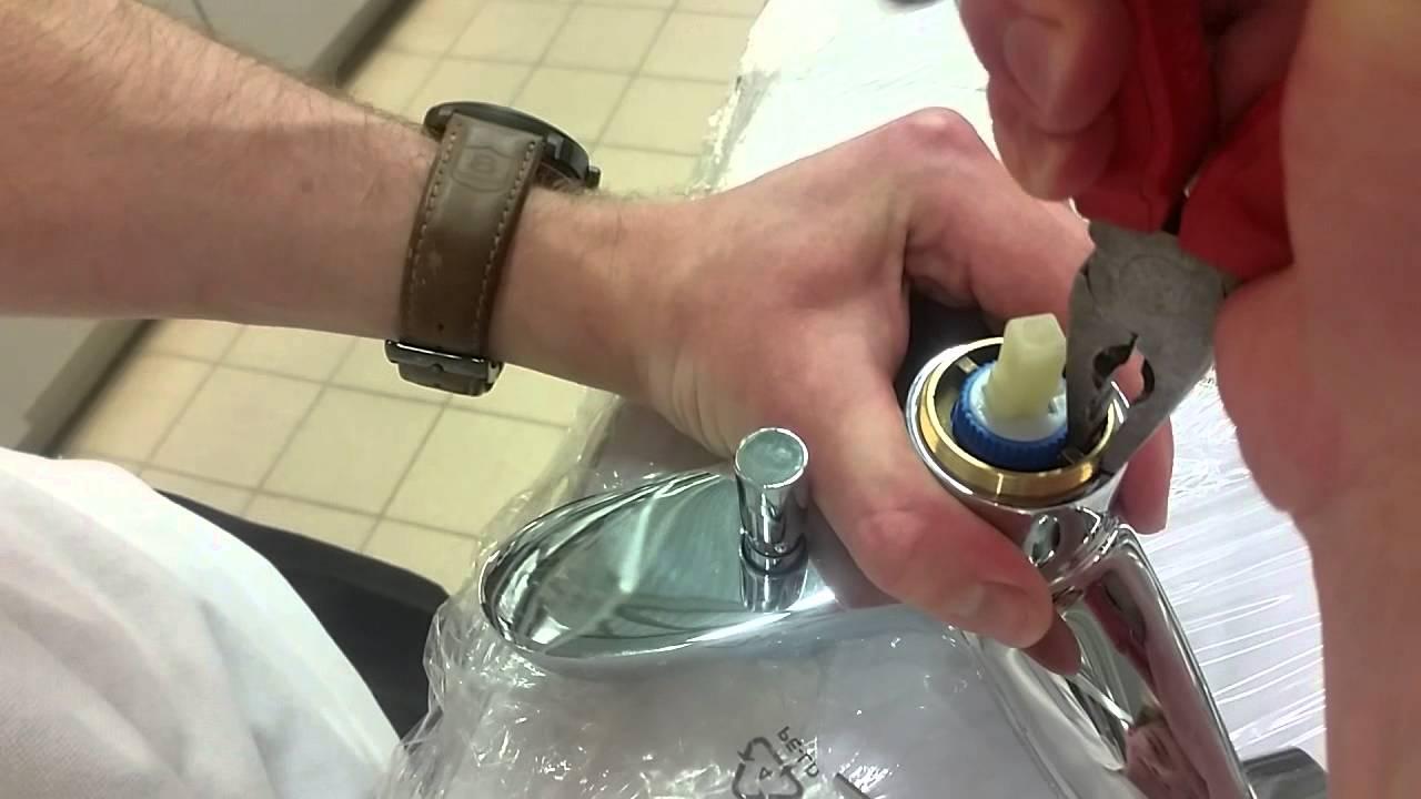 Как заменить картридж в смесителе - замена картриджа