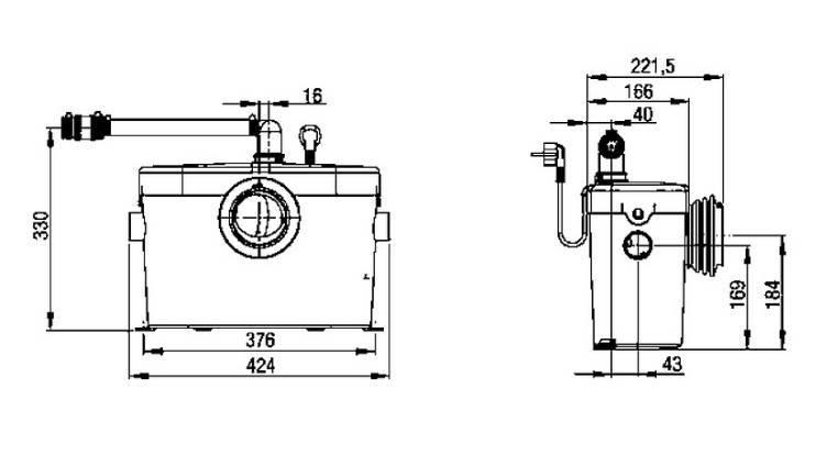 Насос для унитаза с измельчителем: разновидности и инструкция по установке