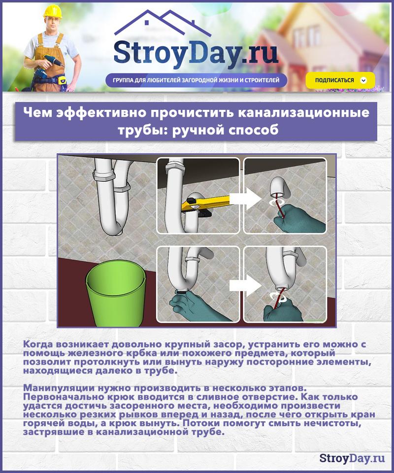 Как прочистить канализационные трубы в домашних условиях: Лучшие способы +Фото и Видео