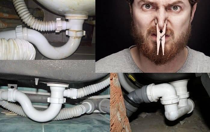 Запах канализации в квартире: почему пахнет и воняет канализацией, как избавиться от запаха, что делать