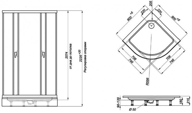 Поддоны для душевой кабины – формы и размеры (фото, видео обзор)