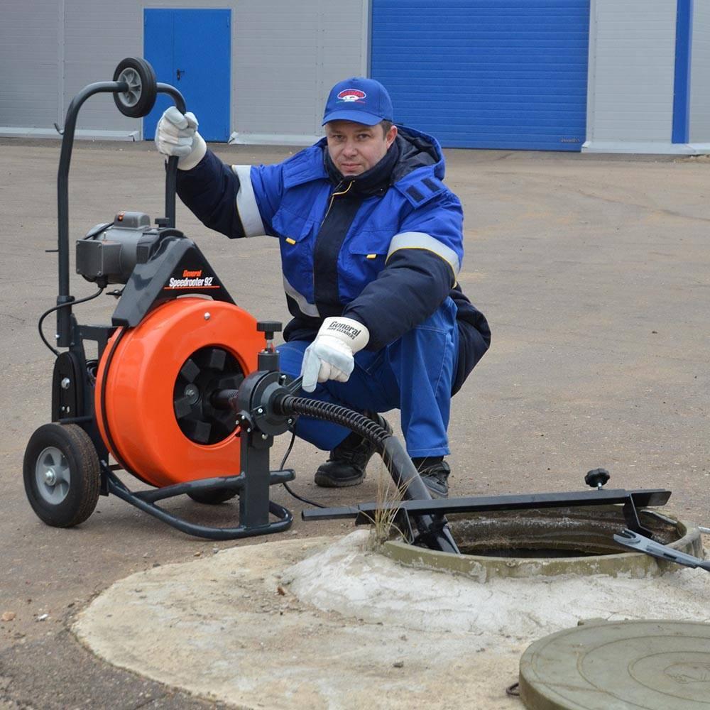 Прочистка канализации механическим способом в москве и московской области