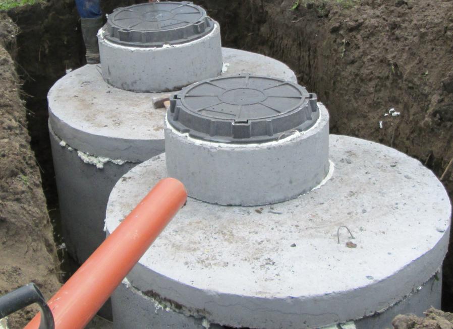 Монтаж септика из бетонных колец  с установкой под ключ за 1 день