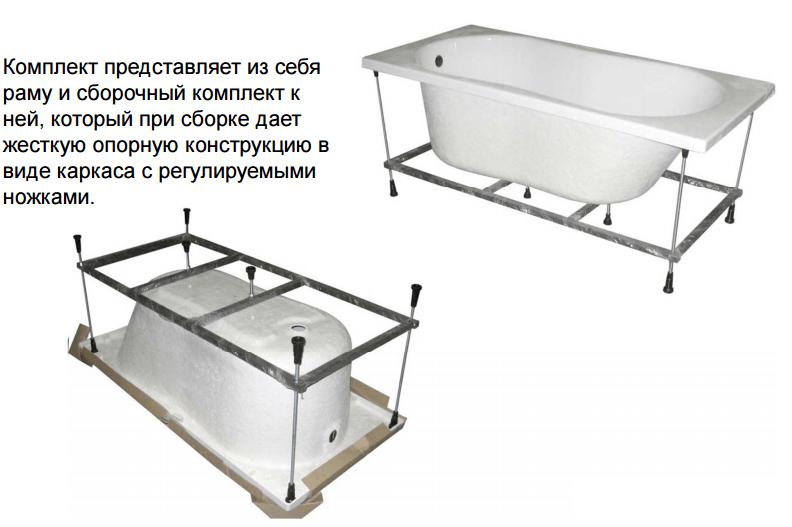 Акриловые ванны особенности установки своими руками