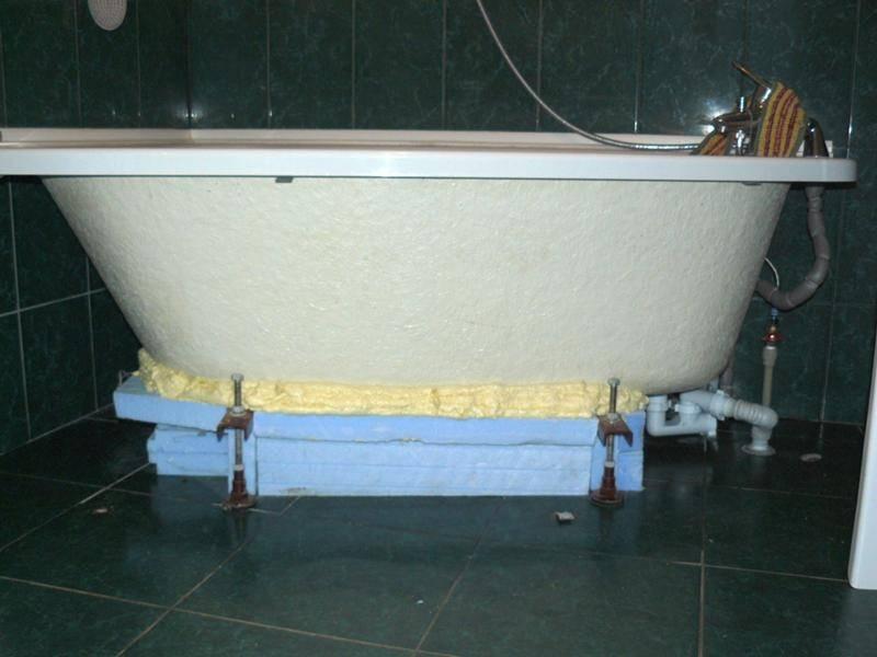 Установка ванны в ванной комнате (75 фото): как установить своими руками, демонтаж стального изделия