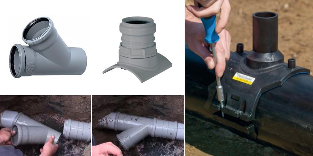 Врезка в канализацию: как врезаться в канализационный стояк, как сделать врезку в пластиковую канализационную трубу, чугунную, в существующую сеть