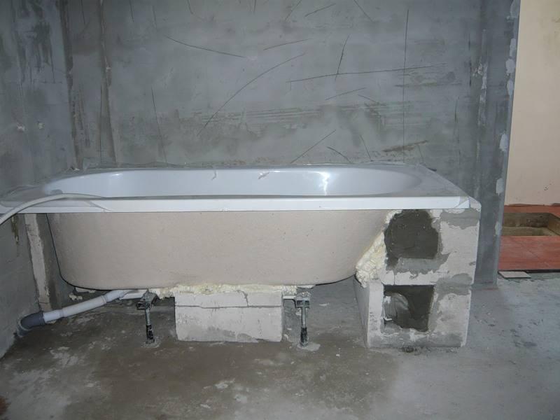 Установка акриловой ванны своими руками: разновидности опор, монтаж