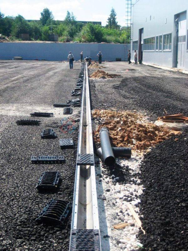 Конструкция и виды лотков ливневой канализации