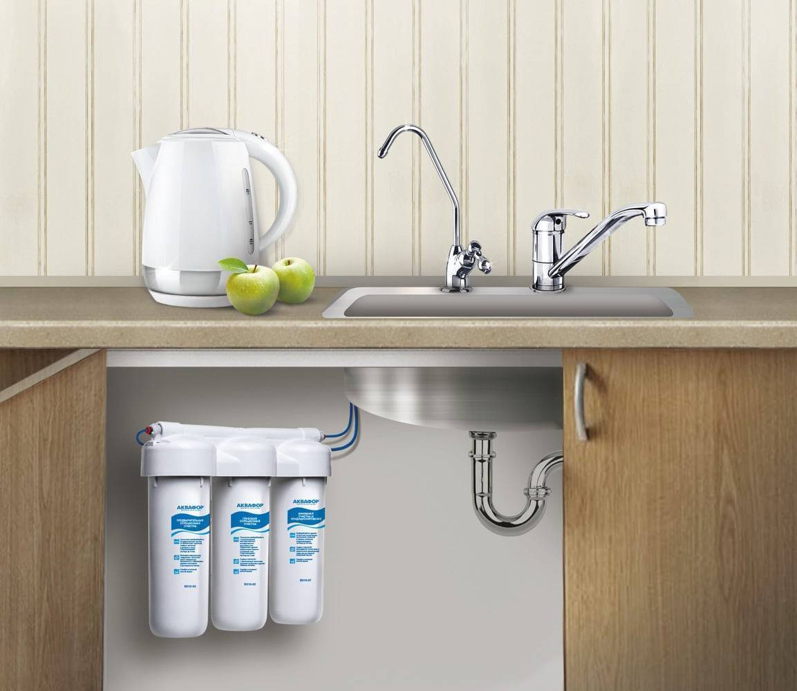 Установка фильтра для воды под мойку: как подключить проточный очиститель на кухне, куда установить кран прибора